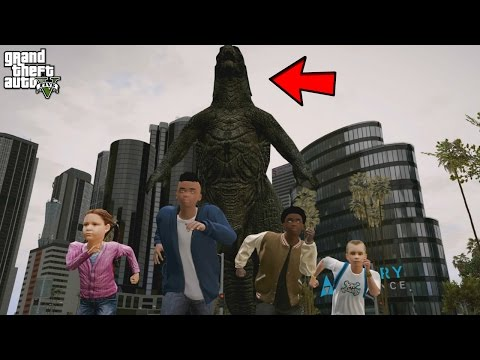 GODZILLA ATTACKS KIDS OF LOS SANTOS! (GTA 5 Mods For Kids)