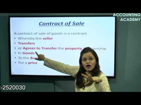 Sale Of Goods Act for CA CPT part 1