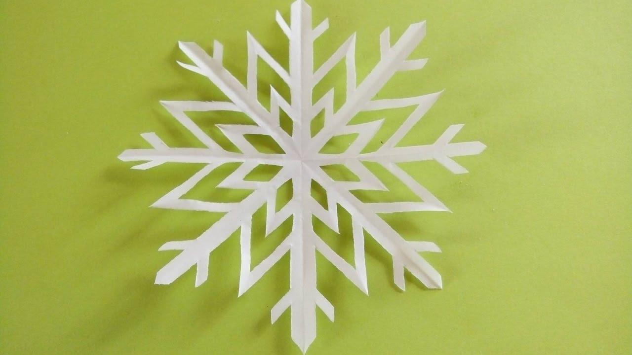 Cách cắt bông hoa tuyết kiểu 7