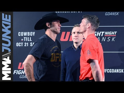 UFC Fight Night 118 face offs