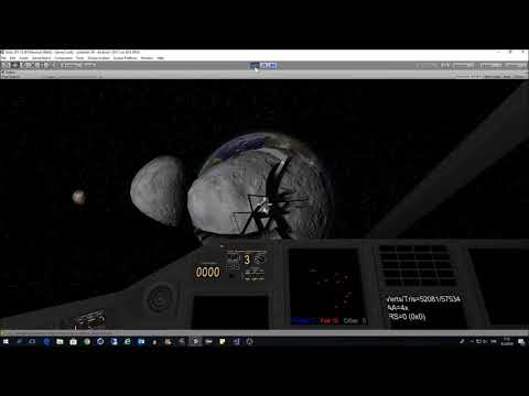 Exploding Asteroids in LineWars VR