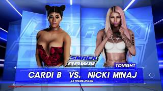 WWE 2K18-Cardi b vs Nikki minaj WHO WILL WIN??