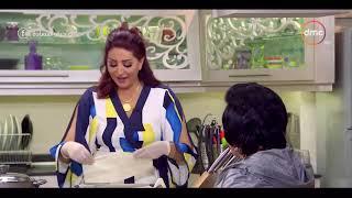 صاحبة السعادة - مهارات وفاء عامر في الطبخ في (فقرة المطبخ) مع إسعاد يونس