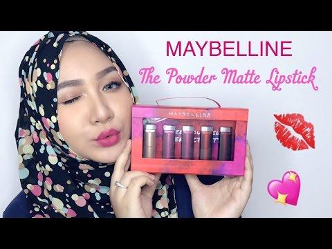 MAYBELLINE THE POWDER MATTE LIPSTICK | Review & Swatch | Bahasa Indonesia | Diendiana