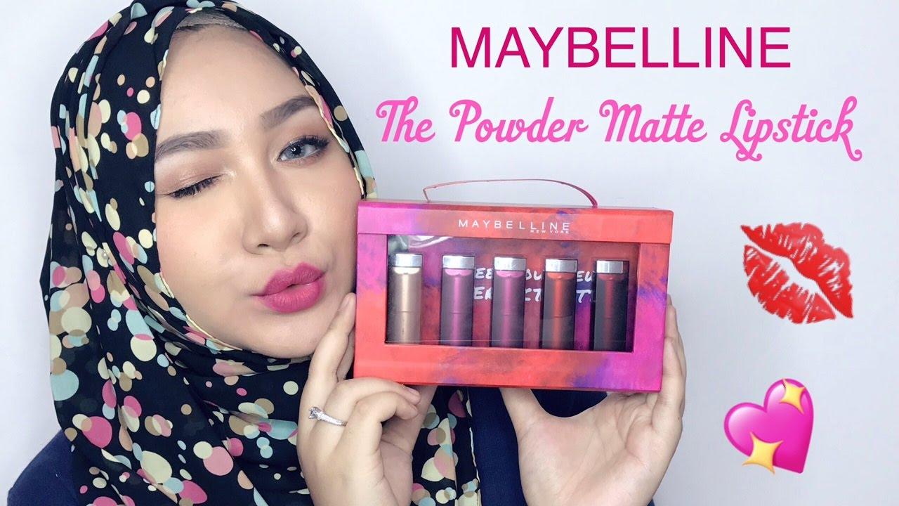 Maybelline The Powder Matte Lipstick Review Swatch Bahasa Lipstik