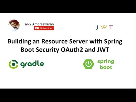 Building a Resource Server   Spring Boot Security   OAuth2