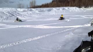 Покатушки на горных снегоходах Сургут 15.02.2015