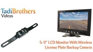mqdefault wireless license plate backup camera kit 7 inch monitor  at mifinder.co