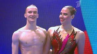 Микст-дуэт российских синхронистов взял золото чемпионата мира по водным видам спорта в Южной Корее.