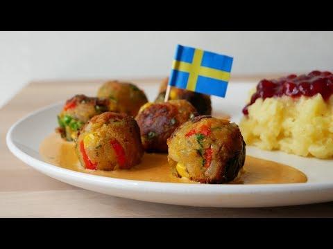 """Grönsaksbullar"" mit Rahmsauce (Rezept) || Veggie Balls with Cream Sauce (Recipe)"