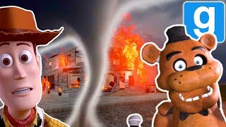 OUR FRIENDS HOUSE BLEW UP DURING A TORNADO IN GMOD!   Multiplayer Garry's Mod Gameplay