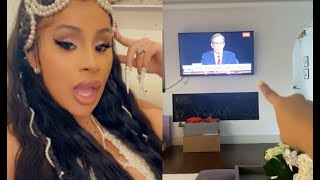 Cardi B Gives Play By Play Commentary For 2020 Presidential Debate 🤣
