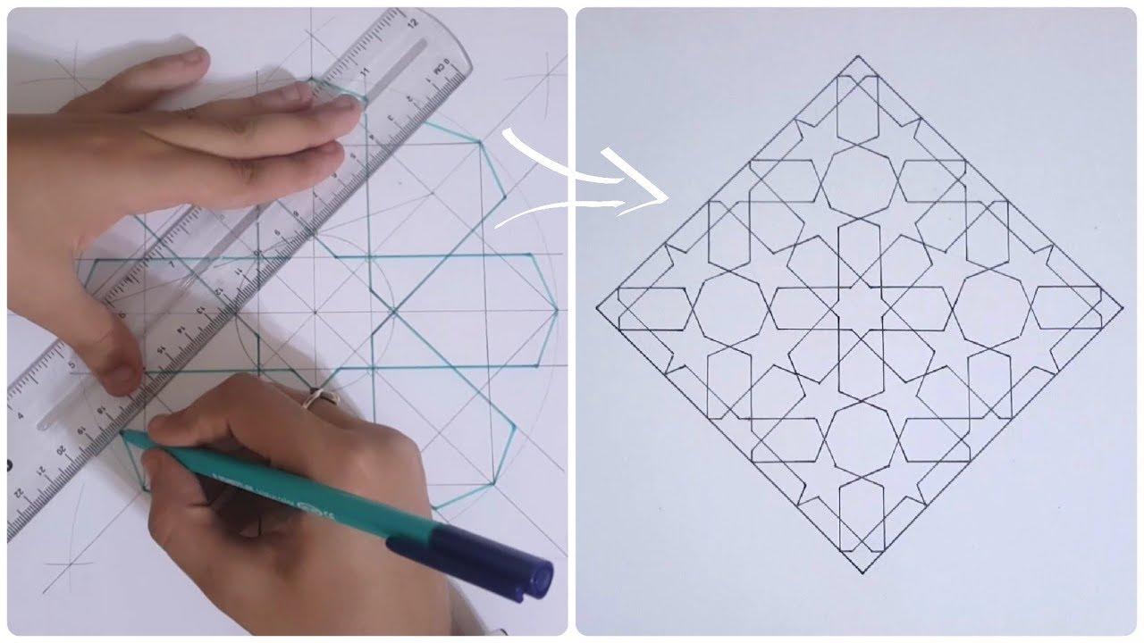 Pattern 13 Details How To Draw An Islamic Geometric Pattern زخارف اسلامية هندسية Youtube