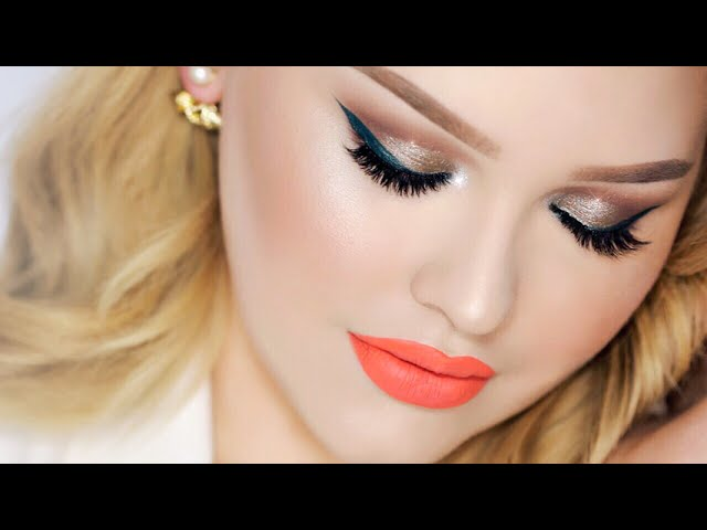 Taupe Smokey Eye With Teal Wing Summer Party Makeup Clipzui