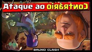ATAQUE AO CONTRARIO: DESAFIO COM BRUNO PLAYHARD, NERY E MINERO - Clash of Clans - Bruno Clash