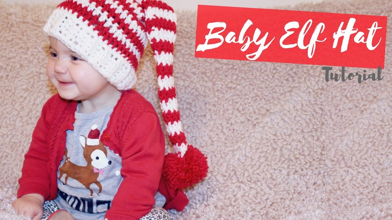5e899058c8d CROCHET  Baby Elf Hat