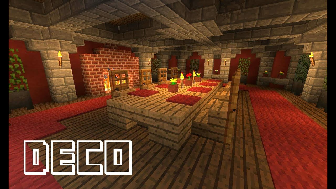 Minecraft creer une salle a manger youtube for Table de salon a manger