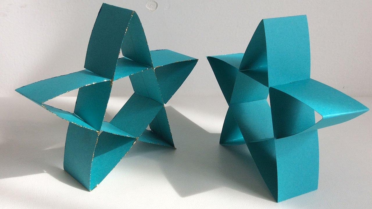estrella de papel como hacer una estrella paper star estrella para rbol de navidad
