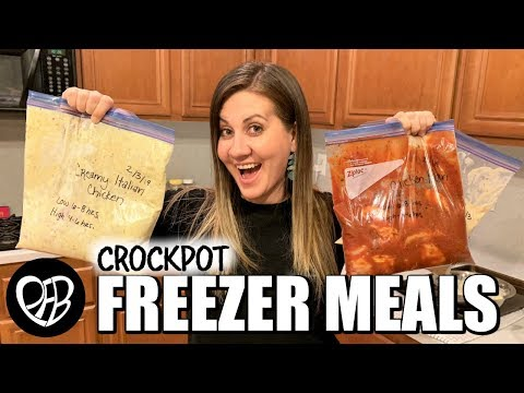 EASY CHICKEN CROCKPOT FREEZER MEALS | EASY FREEZER MEAL PREP IDEAS | PHILLIPS FamBam COOK WITH ME