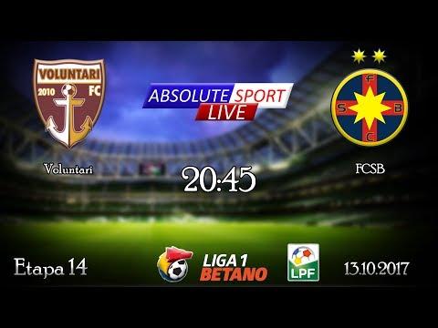 LIVE FC Voluntari - FCSB (Steaua) - Etapa 14 - Liga 1 - 13/10/2017