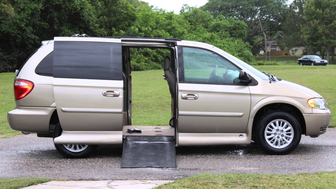 Wheelchair van handicap ramp van vmi mobility chrysler town country 2004 gold 118k vipautogroupin youtube