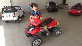 Dima Kids TV! The Steering wheel feel off on Quad Bike Funny Paw Patrol Ride on POWER WHEEL Tractor