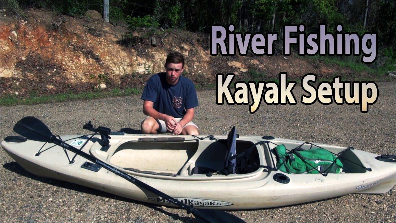 River fishing kayak setup malibu sierra 10 youtube for River fishing kayak