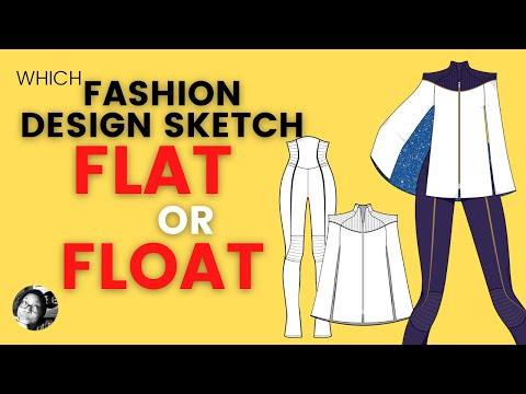 Flat Sketch Vs Float What Type Of Sketch Should A Fashion Designer Use Youtube