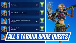 All 6 Spire Quests for Tarana - Tarana Spire Quest Challenges Guide in Fortnite Chapter 2 Season 6