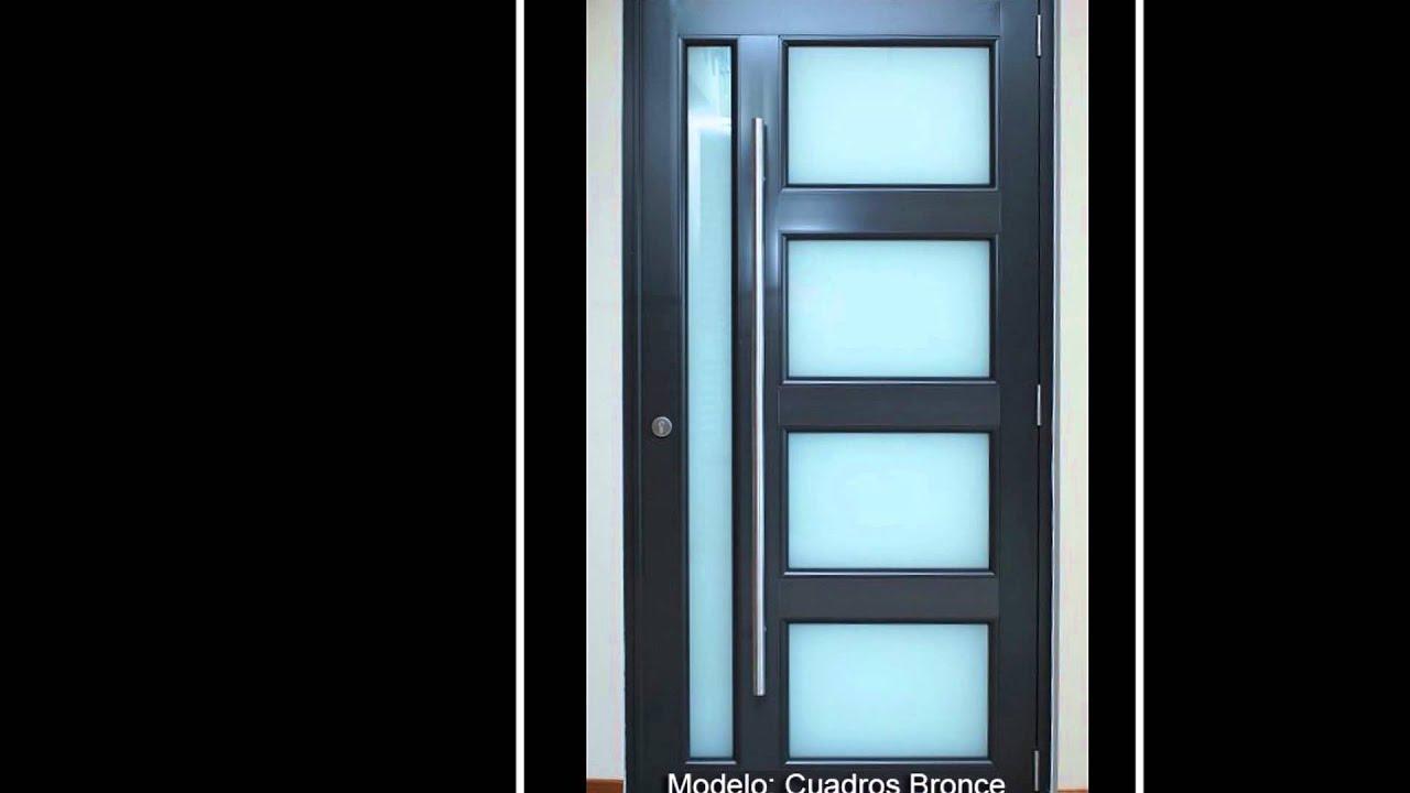 Benitez aluminum puertas y ventanas youtube for Puertas para casas minimalistas