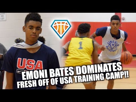 Emoni Bates DOMINATES HIGH SCHOOL Fall League!! | #1 Freshman in the COUNTRY?!