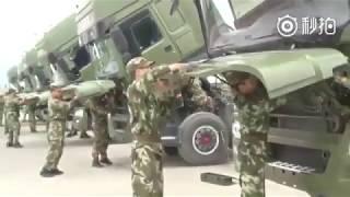 Навыки вождения китайских военных