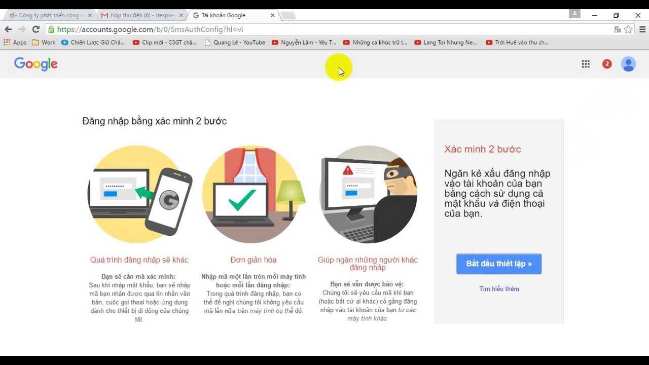 Hướng dẫn cài đặt Gmail  trên Outlook 2010 (Gửi nhận thư OK) ITExpress.vn