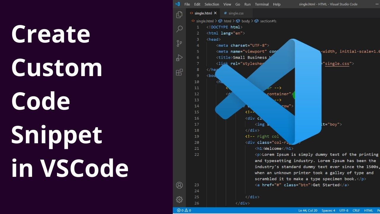 How To Create Reusable Custom Code Snippet In Visual Studio Code