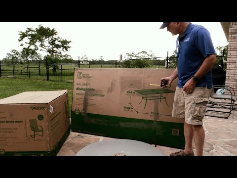 Garden Treasures Folcroft Table Unboxing and Assembly