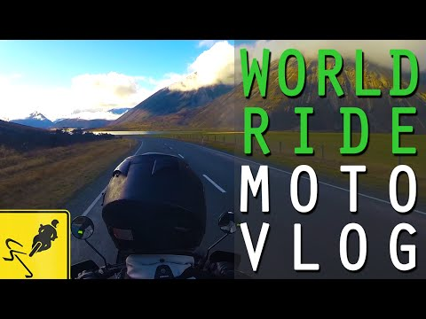 Arthur's Pass Stunning Motorcycle Ride , New Zealand - MotoVlog