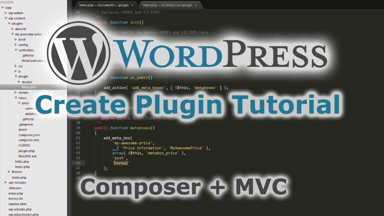 How to create a Wordpress Plugin using a template with composer and ...