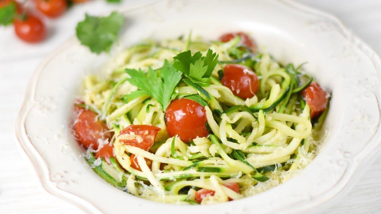 Spaghetti De Courgettes Youtube