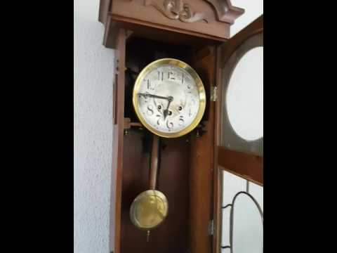 Antique German Mauthe Westminster chime wall clcck