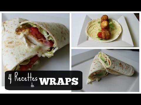 recette-:-4-wraps-différents