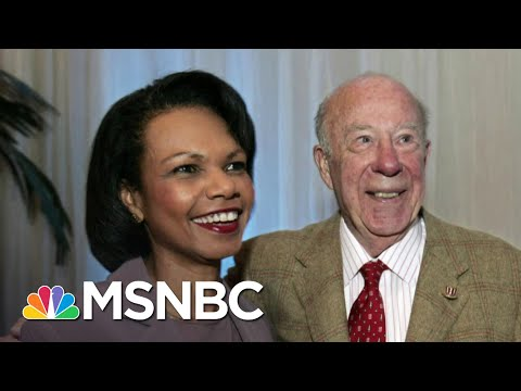 Condoleezza Rice Remembers George Shultz: 'We're All Better For The 100 Years That He Lived'