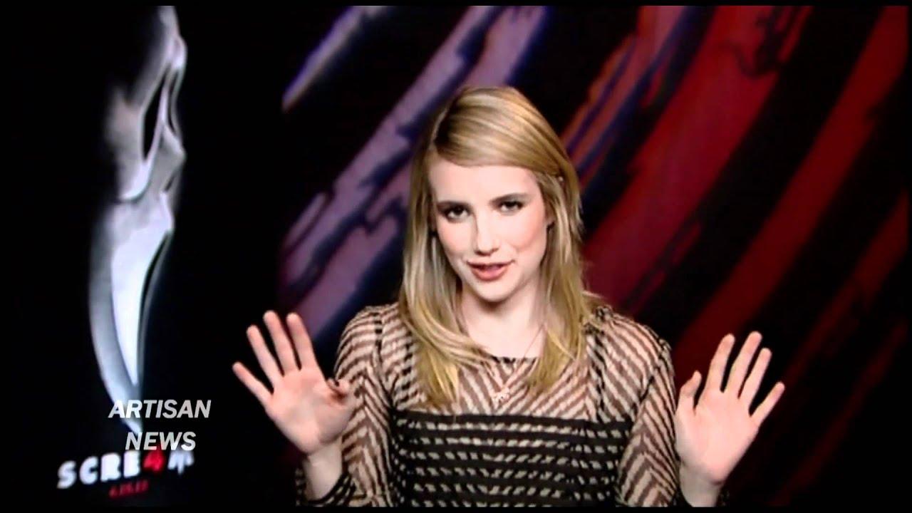 EMMA ROBERTS SCREAM 4 INTERVIEW - YouTube