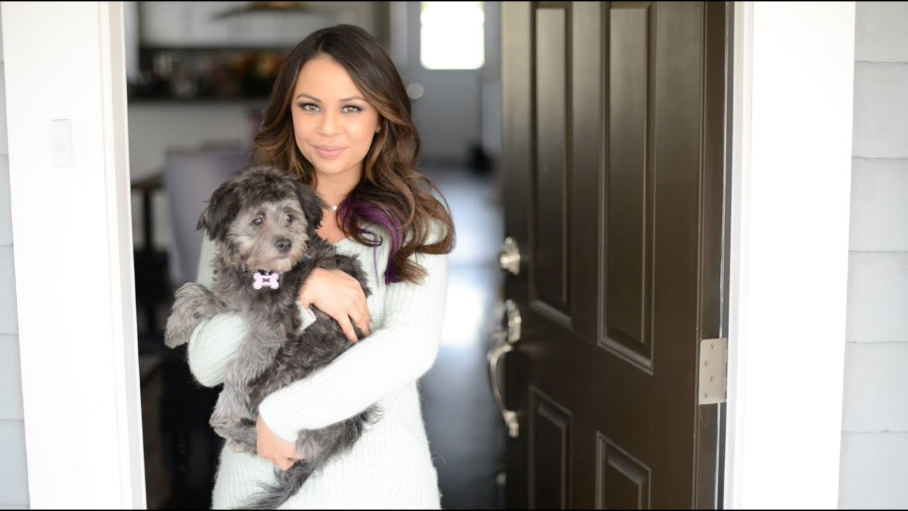 Photo of Janel Parrish & her Dog