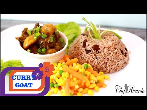 How To Make Curry Goat and Rice AND Peas 2017