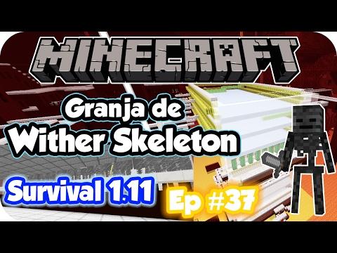 Minecraft Survival 1.11 en español Cap 37: Granja de Wither Skeleton!