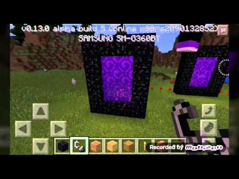 Como fazer portal pro nether Minecraft PE v0.13.0