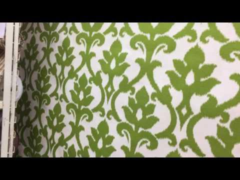 Richloom Leaf in Kiwi Drapery & Curtain Fabric By The Yard