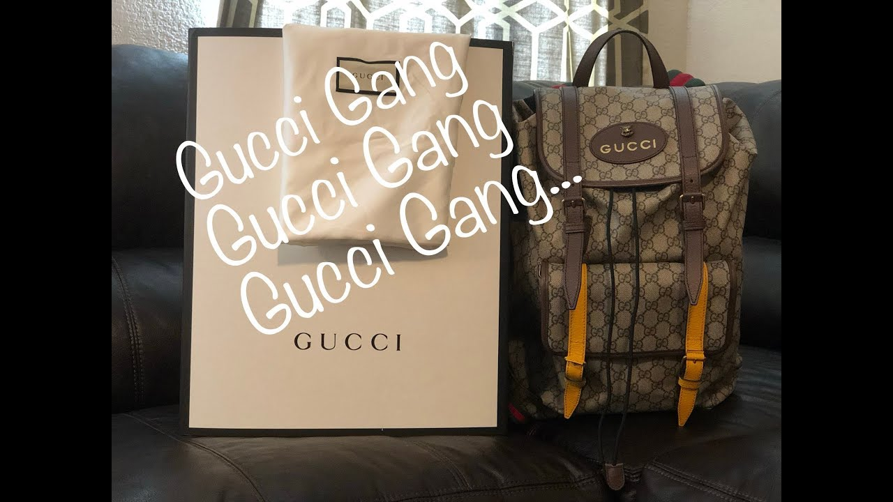 ccb5ab920d9 Gucci Soft GG Supreme Backpack Review - YouTube