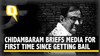 Former Finance Minister P Chidambaram Addresses Media at AICC