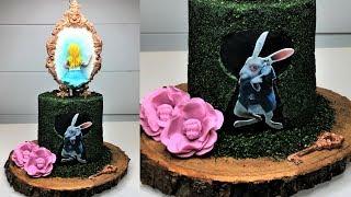 Cake decorating tutorials | Alice in wonderland fault line cake | Sugarella Sweets